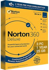Norton 360 Deluxe - 3 PCs - 1 Year - 25GB Cloud Storage [EU]