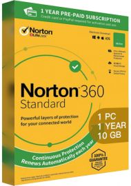 Norton 360 Standard - 1 PC  1 Year - 10GB Cloud Storage [EU]